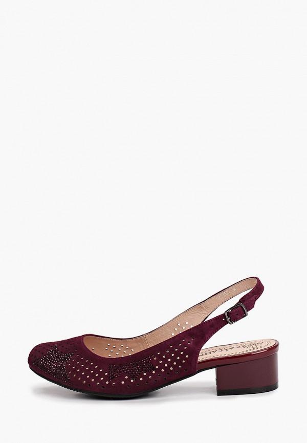 женские туфли ascalini, бордовые