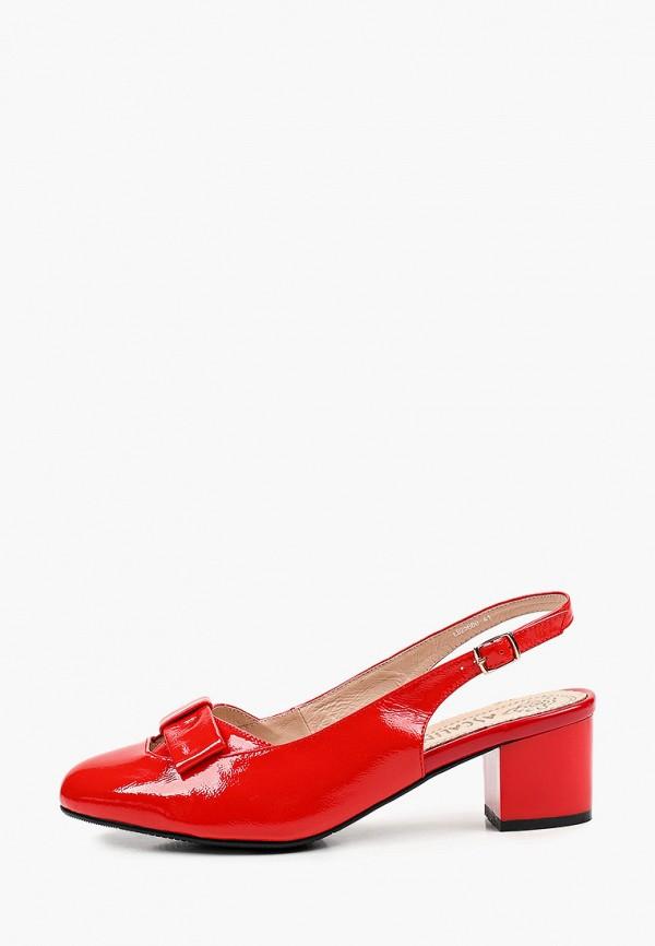 женские туфли ascalini, красные