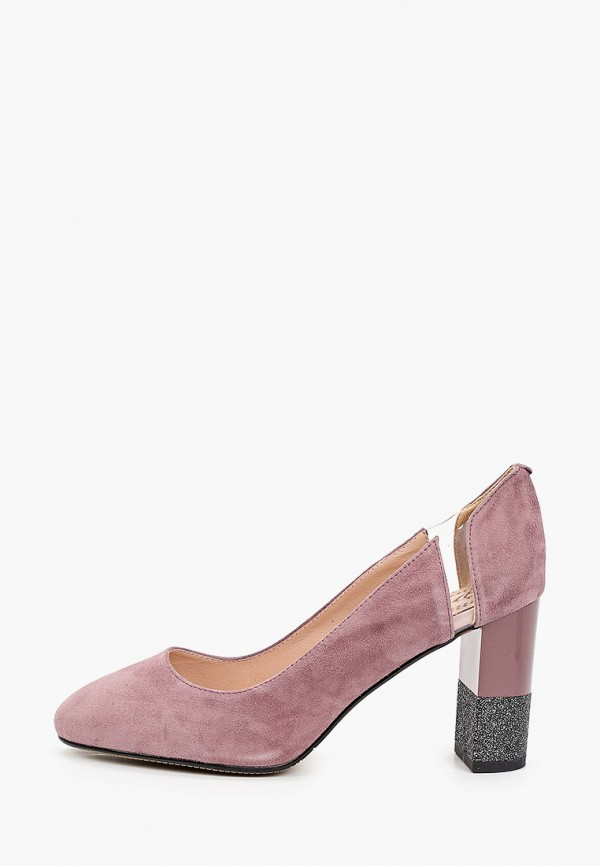 женские туфли с закрытым носом ascalini, розовые