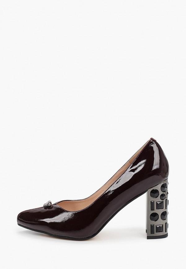 женские туфли с закрытым носом ascalini, бордовые