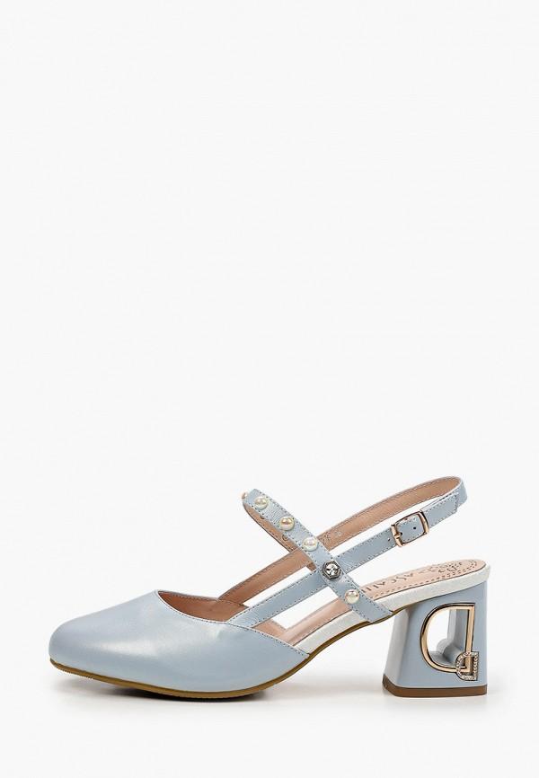 женские туфли ascalini, голубые