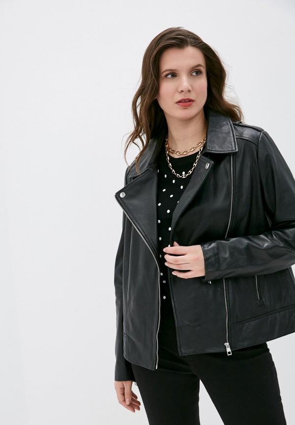 женская куртка косухи снежная королева, черная
