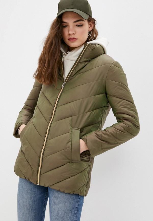 женская утепленные куртка снежная королева, хаки