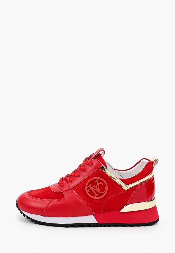 женские низкие кроссовки vitacci, красные