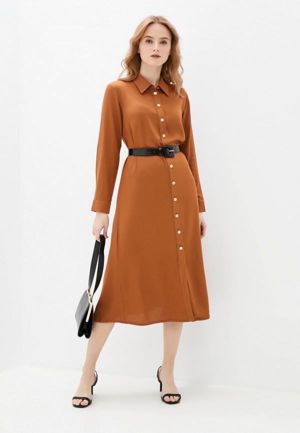 женское платье-рубашки vittoria vicci, коричневое