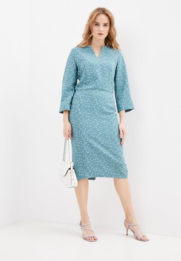 женское платье-футляр vittoria vicci, бирюзовое