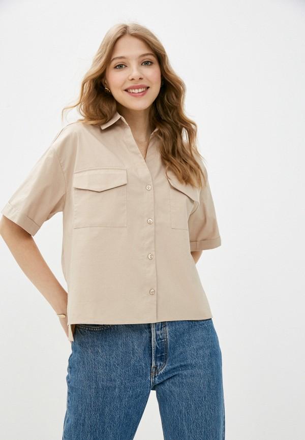 женская блузка с коротким рукавом vittoria vicci, бежевая
