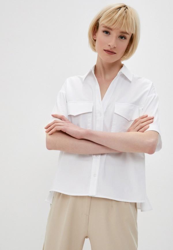 женская рубашка с коротким рукавом vittoria vicci, белая
