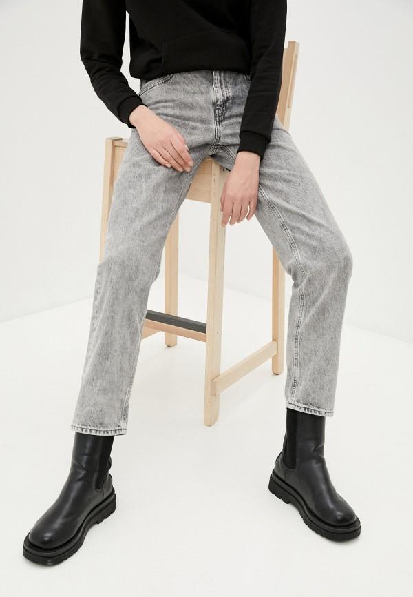 женские джинсы бойфренд mavi, серые