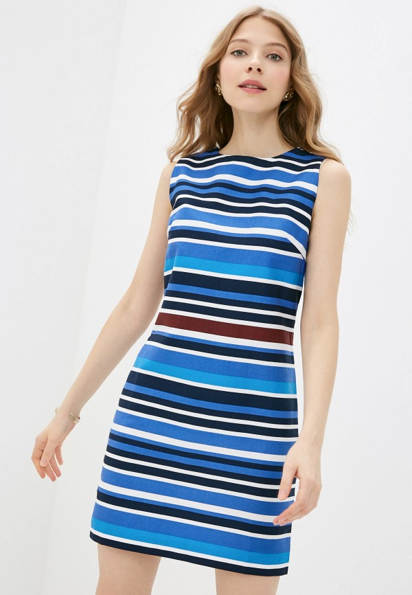 женское платье-футляр vittoria vicci, синее