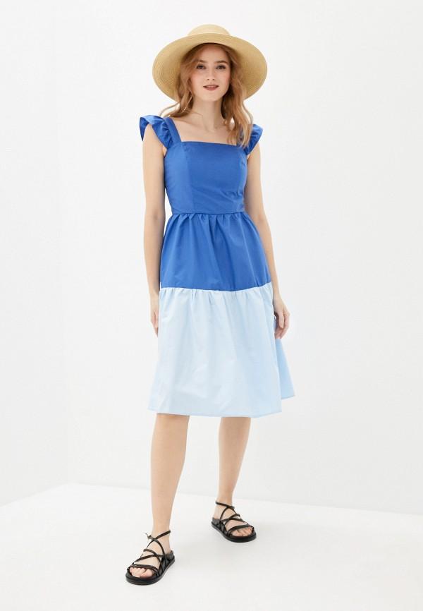 женское повседневные платье vittoria vicci, голубое