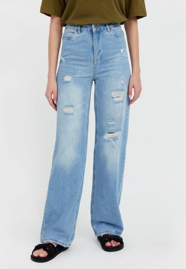 женские прямые джинсы finn flare, голубые