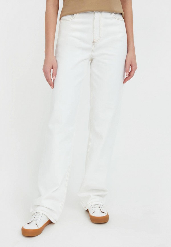 женские прямые джинсы finn flare, белые