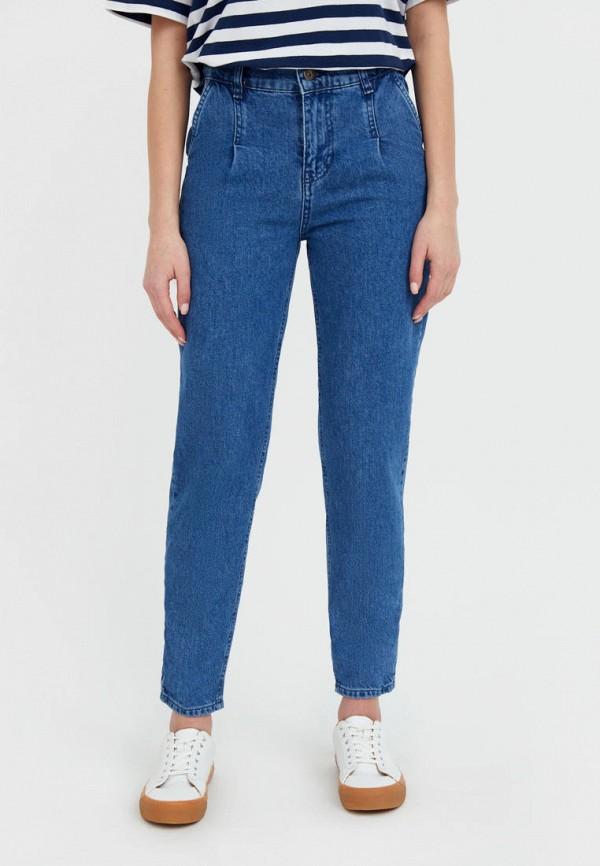 женские джинсы-мом finn flare, синие