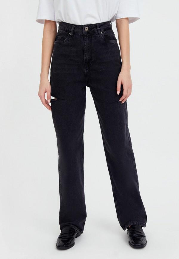 женские прямые джинсы finn flare, черные