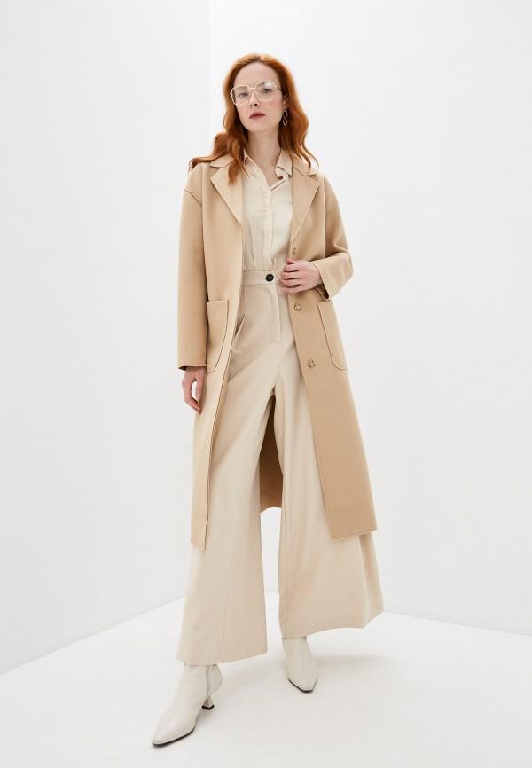 женское пальто concept club, бежевое