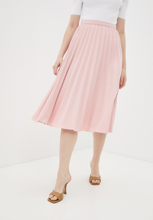 женская плиссированные юбка concept club, розовая