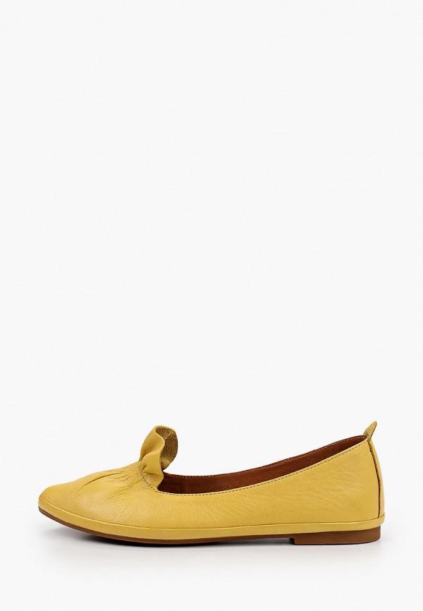 женские лоферы laremo, желтые