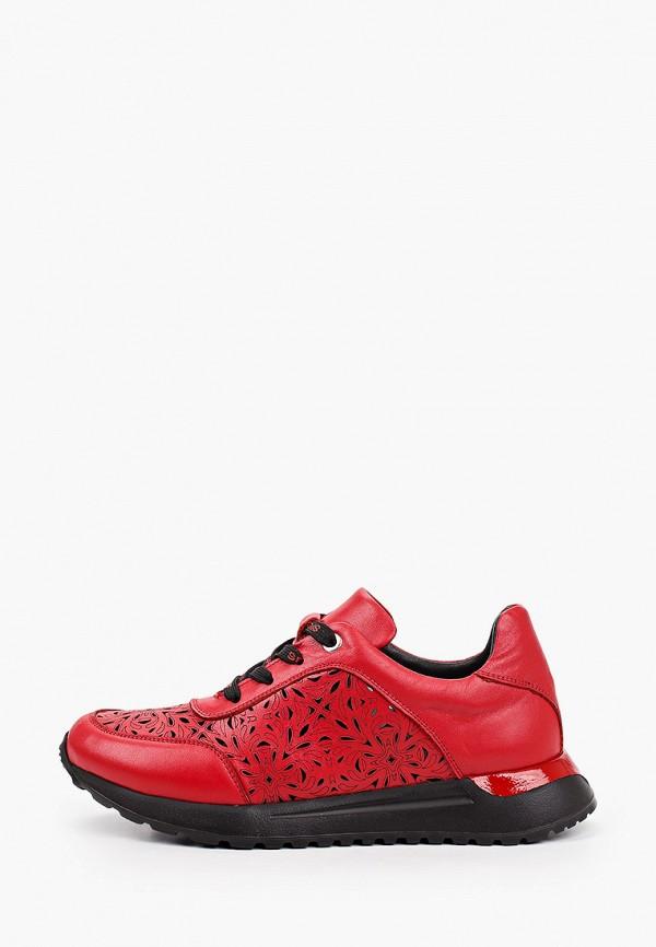 женские низкие кроссовки laremo, красные