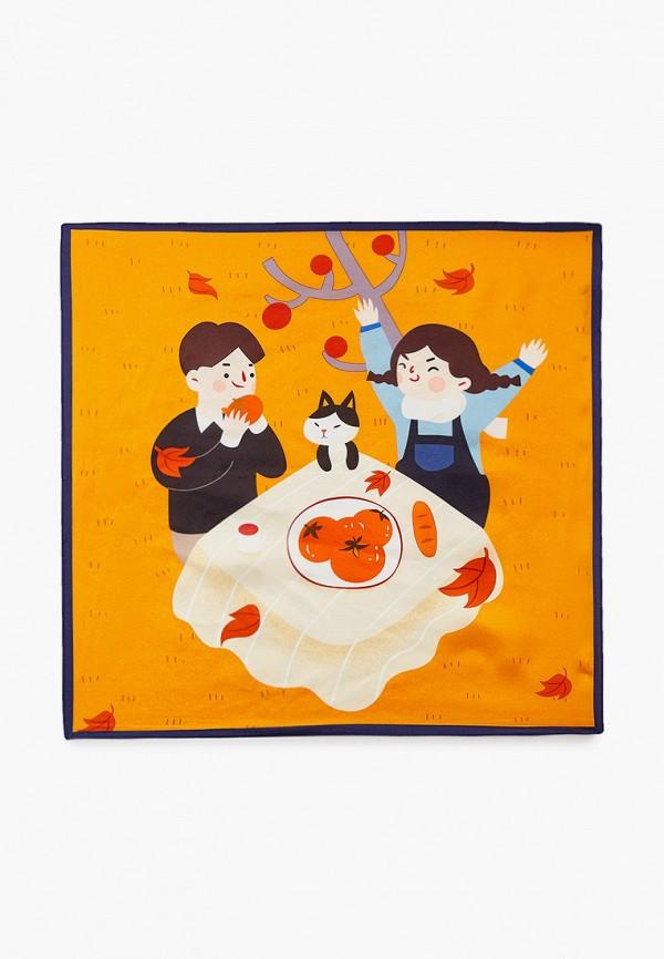 женский платок eleganzza, оранжевый