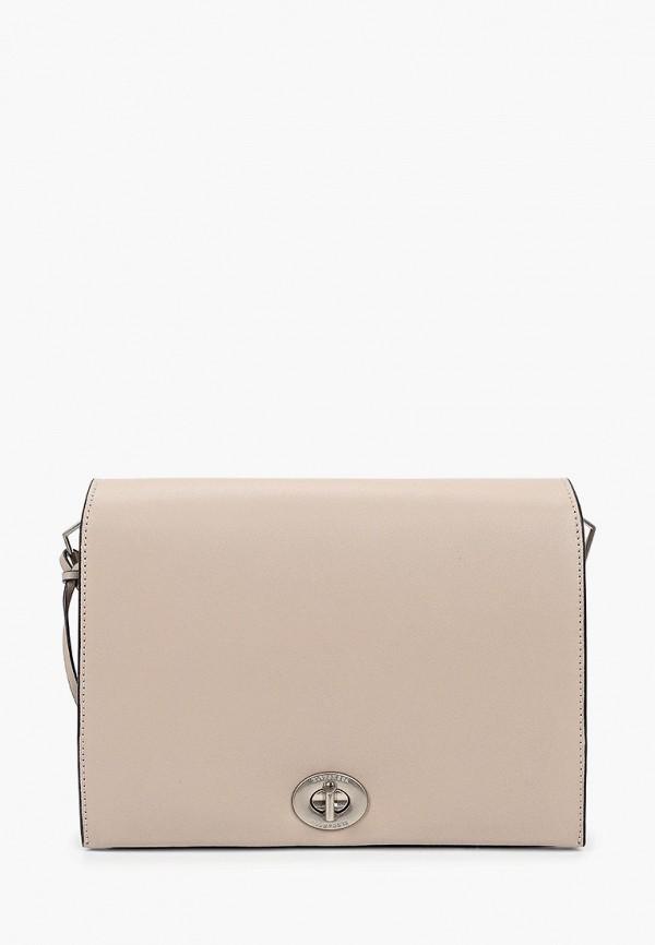 женская сумка через плечо eleganzza, бежевая
