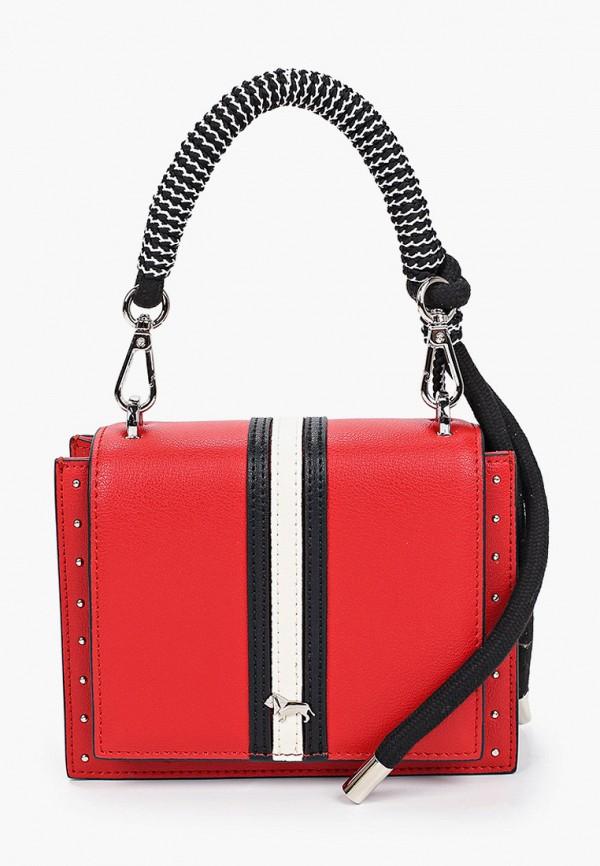 женская сумка через плечо labbra, красная
