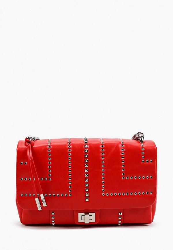 женская сумка с ручками eleganzza, красная