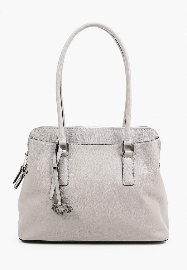 женская сумка с ручками labbra, серая