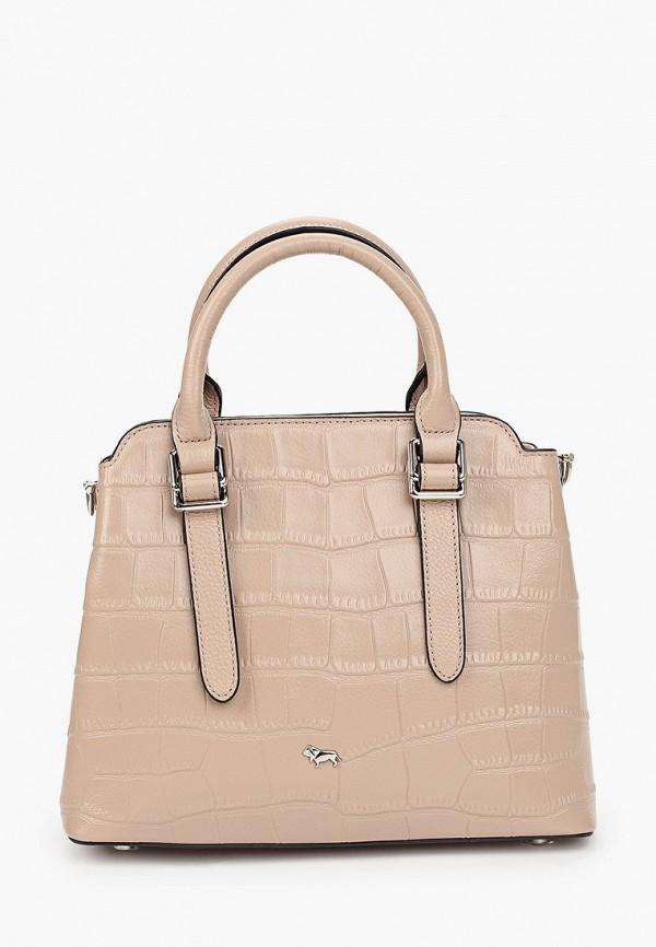 женская сумка с ручками labbra, бежевая