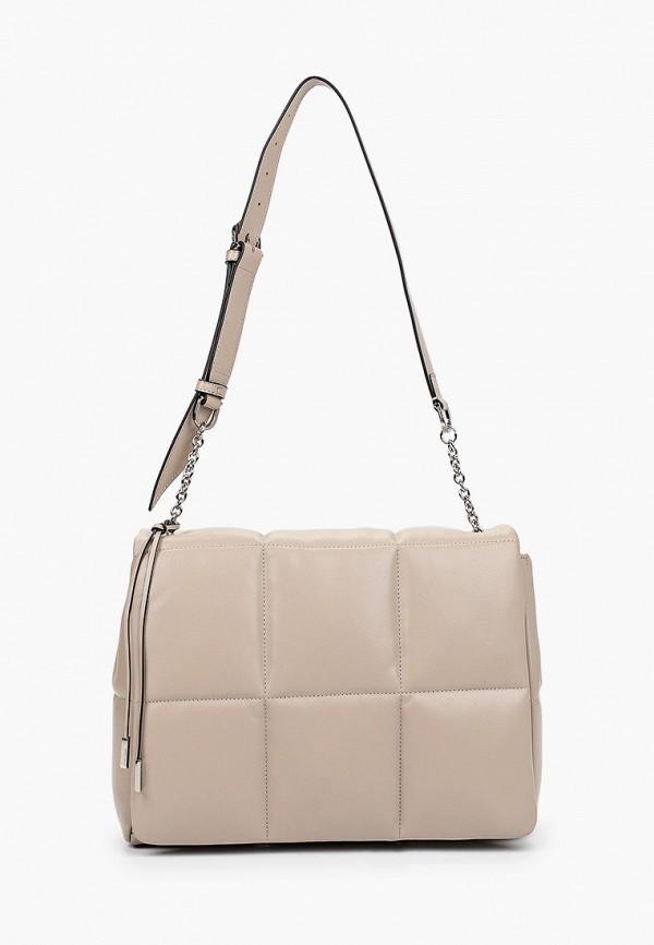женская сумка с ручками eleganzza, бежевая
