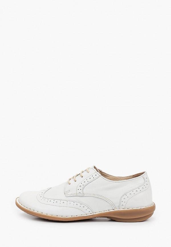 женские ботинки-оксфорды francesco donni, белые