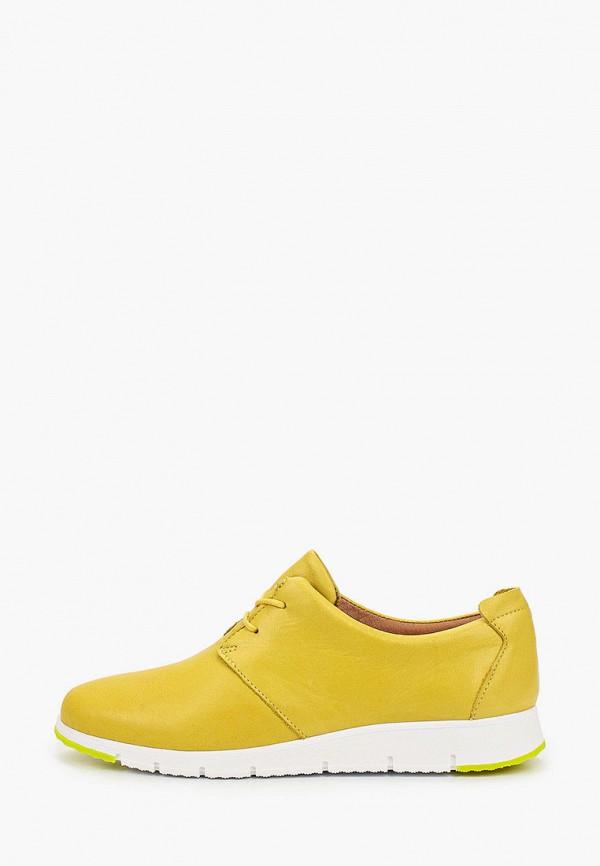 женские низкие ботинки francesco donni, желтые