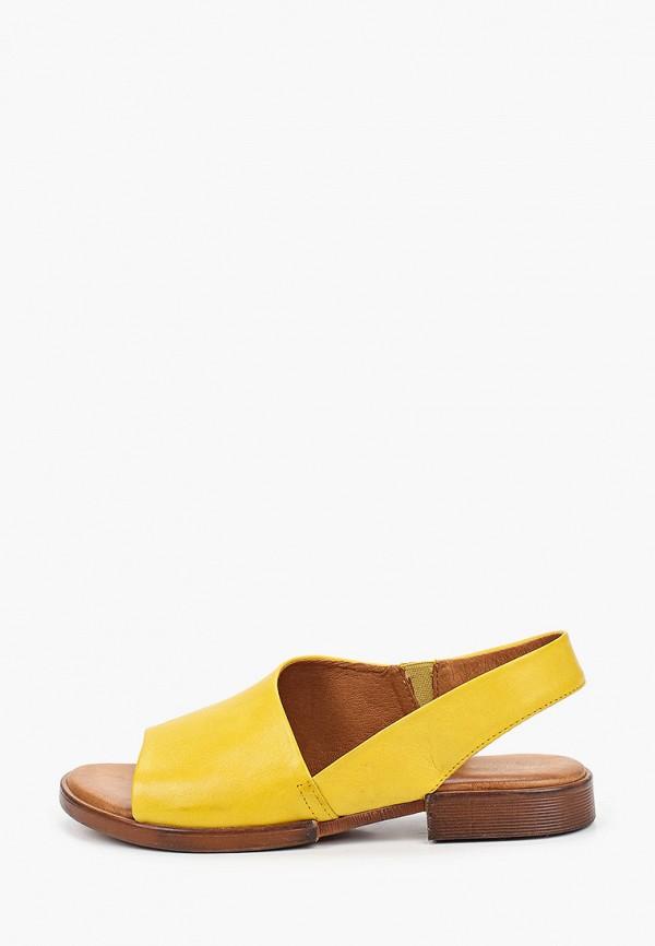 женские сандалии francesco donni, желтые