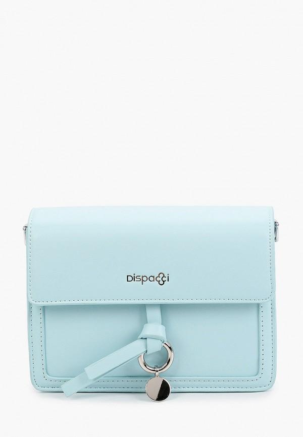женская сумка через плечо dispacci, голубая