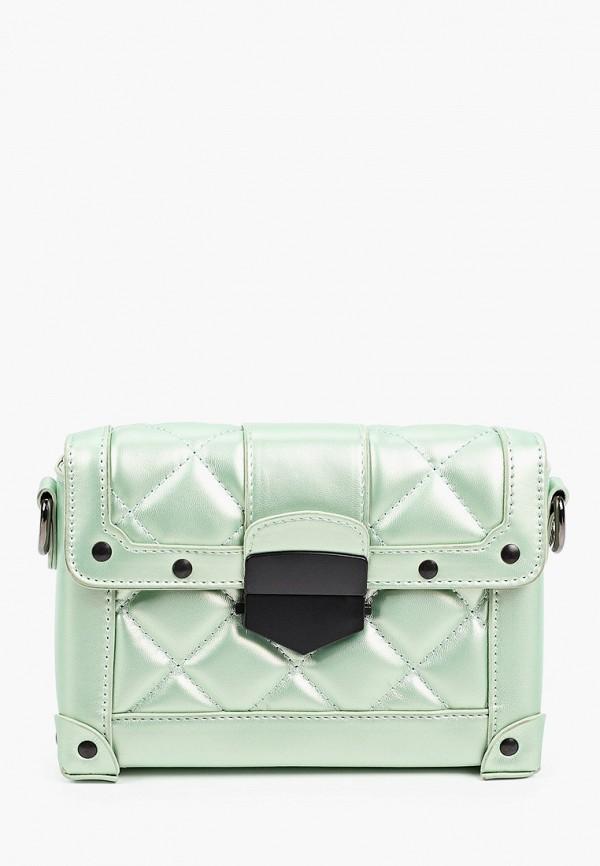 женская сумка через плечо dispacci, бирюзовая
