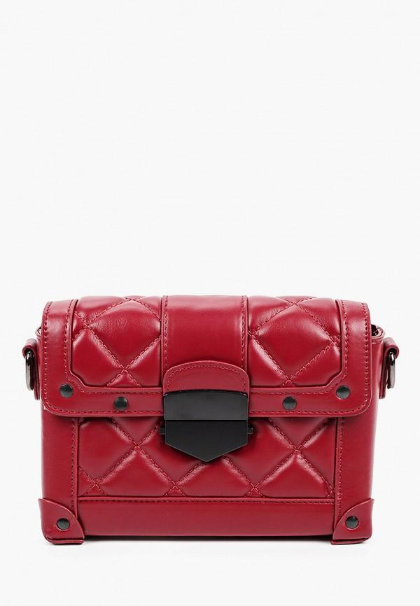 женская сумка через плечо dispacci, бордовая