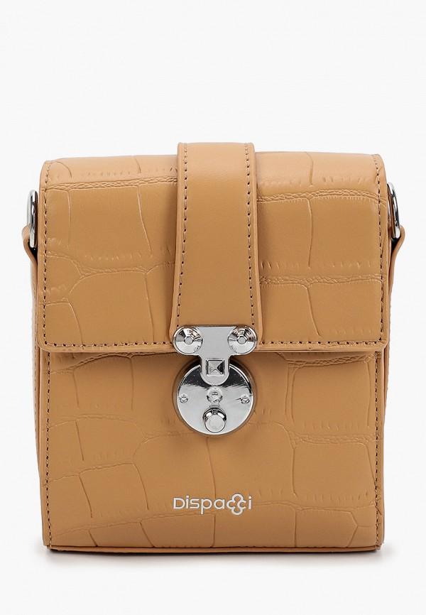 женская сумка с ручками dispacci, бежевая