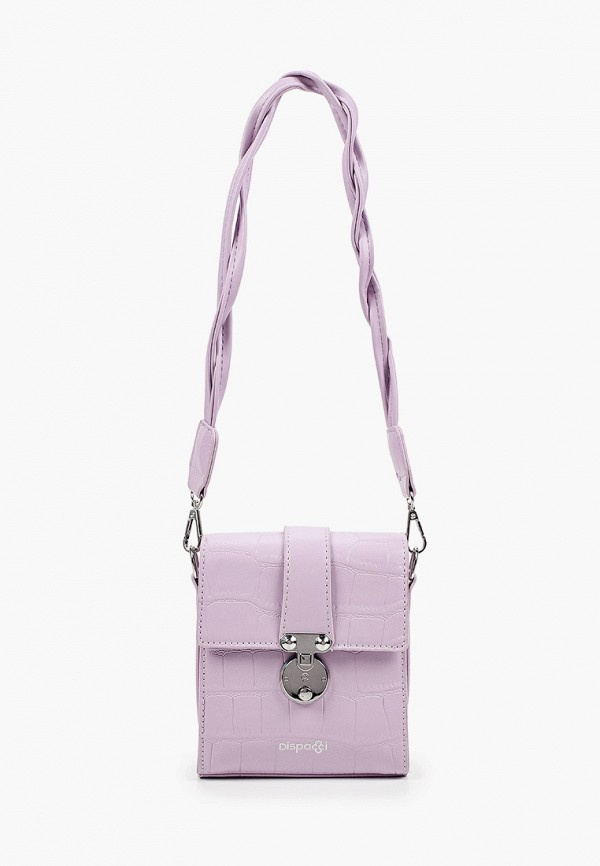 женская сумка с ручками dispacci, фиолетовая