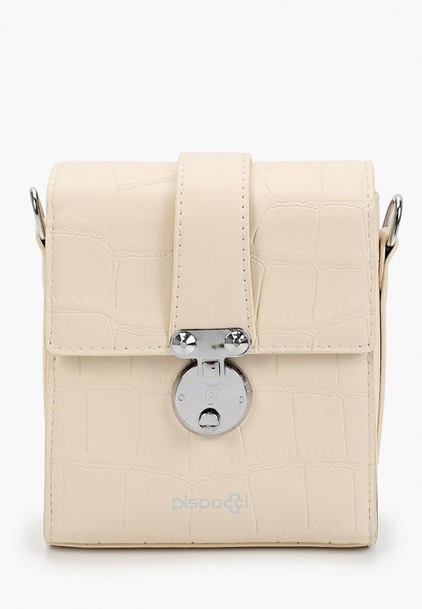 женская сумка с ручками dispacci, белая