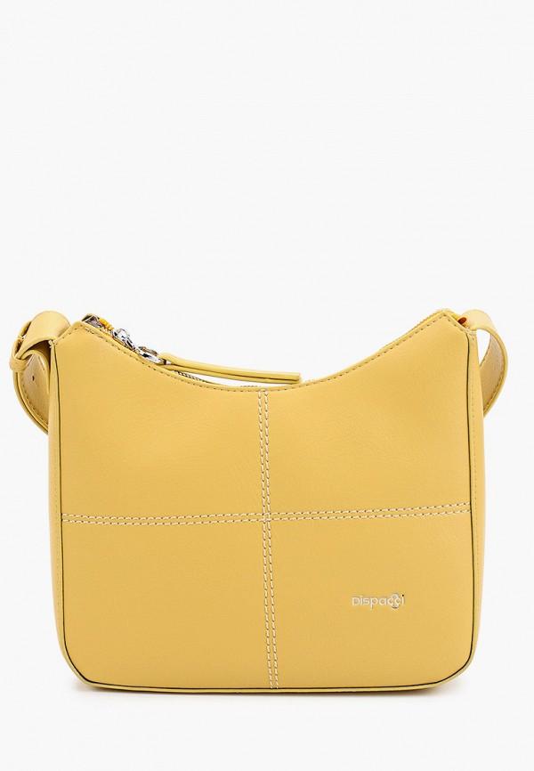 женская сумка через плечо dispacci, желтая