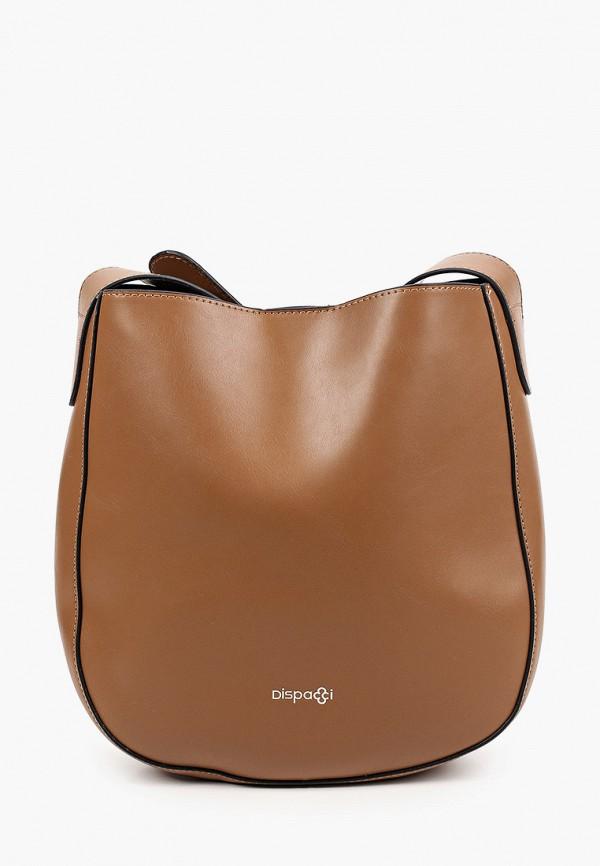 женская сумка через плечо dispacci, коричневая