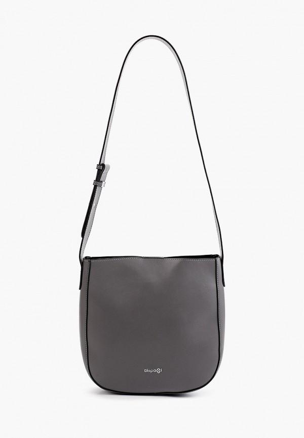женская сумка через плечо dispacci, серая