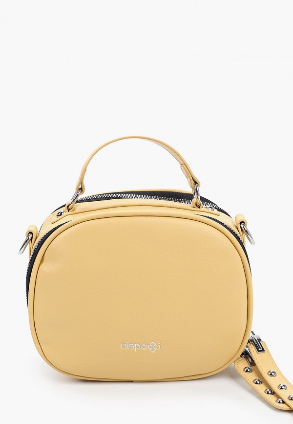 женская сумка с ручками dispacci, желтая
