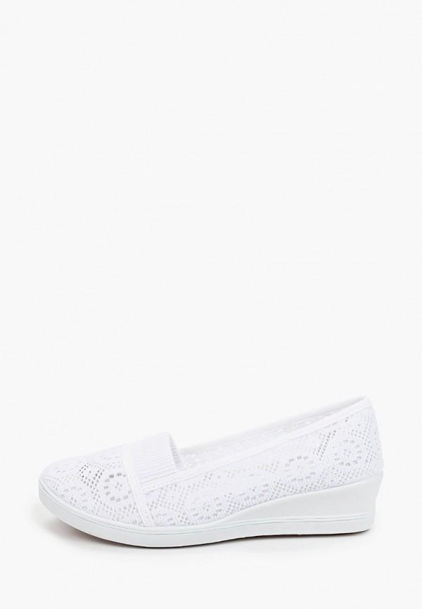женские туфли с закрытым носом enjoin', белые