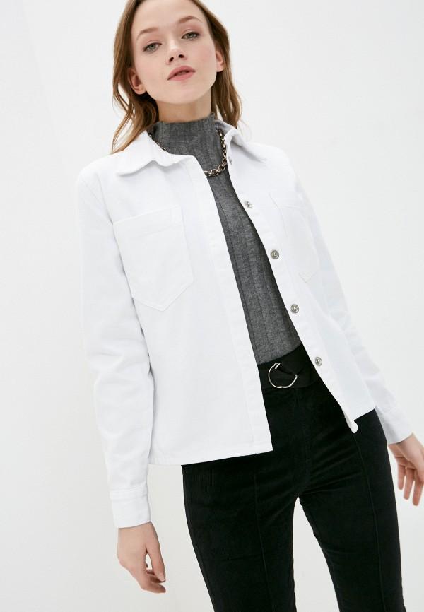 женская джинсовые рубашка top top, белая