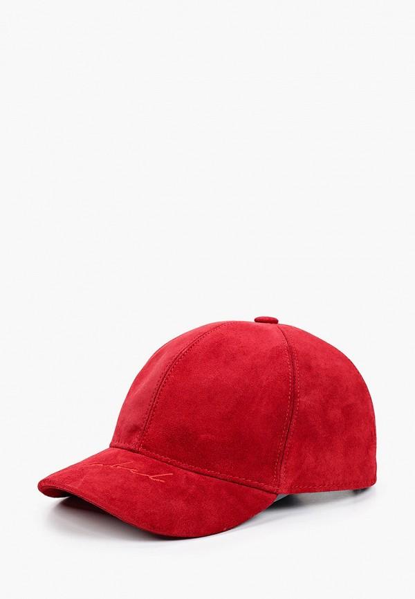 женская бейсболка lf-label, красная