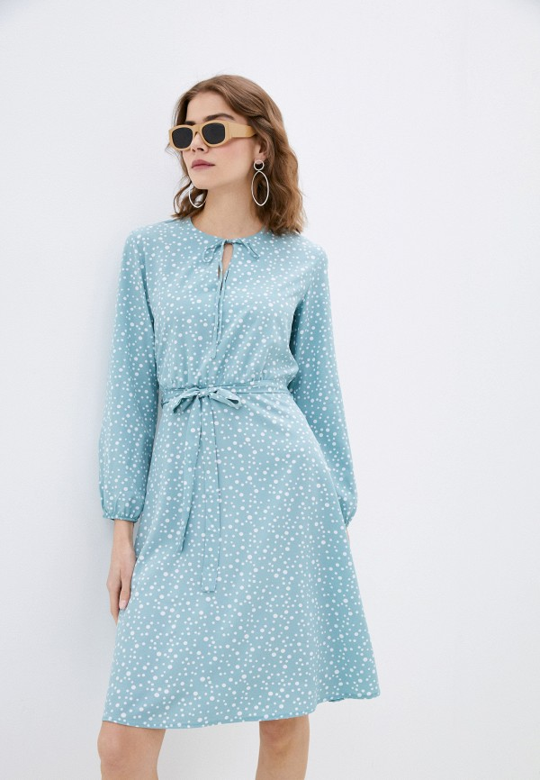 женское повседневные платье froggi, бирюзовое