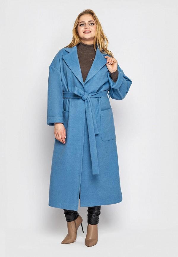 женское пальто vlavi, голубое