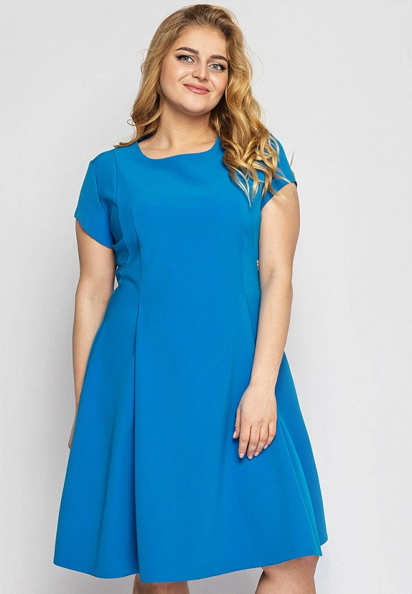 женское повседневные платье vlavi, голубое