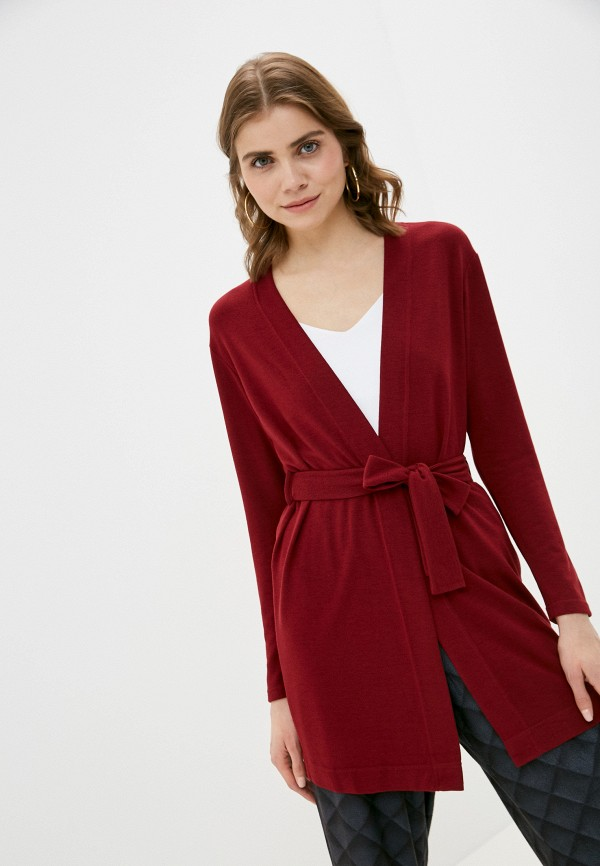 женский кардиган a-a awesome apparel by ksenia avakyan, бордовый